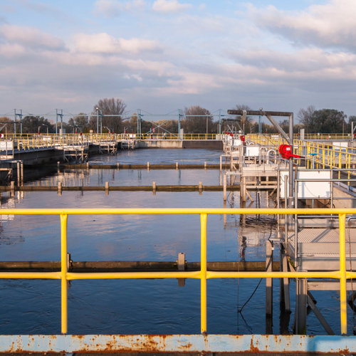 View of a water treatment facility.