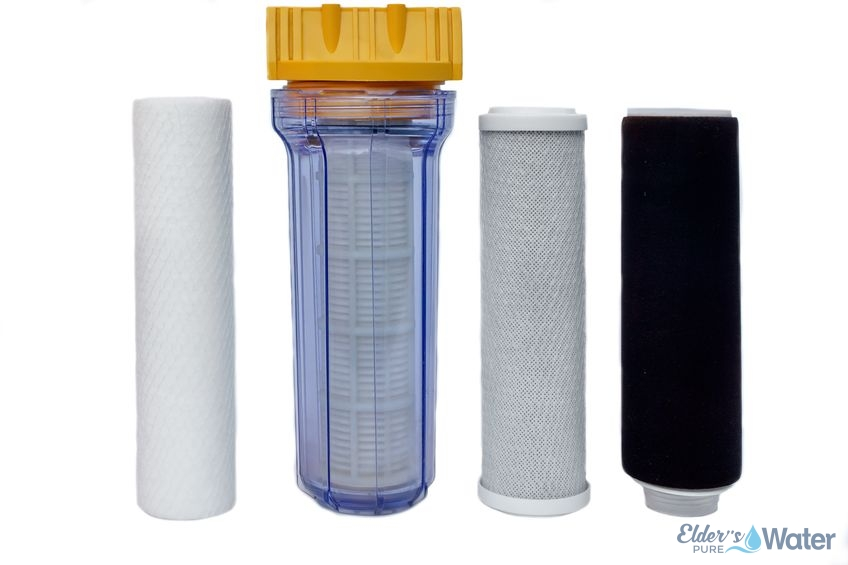 The types of water filters lines side by side.